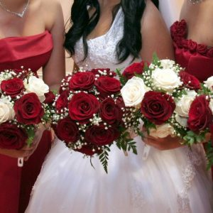 Red Rose Bridesmaids Bouquet